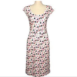 Boden Margot Bird Print Jersey Dress